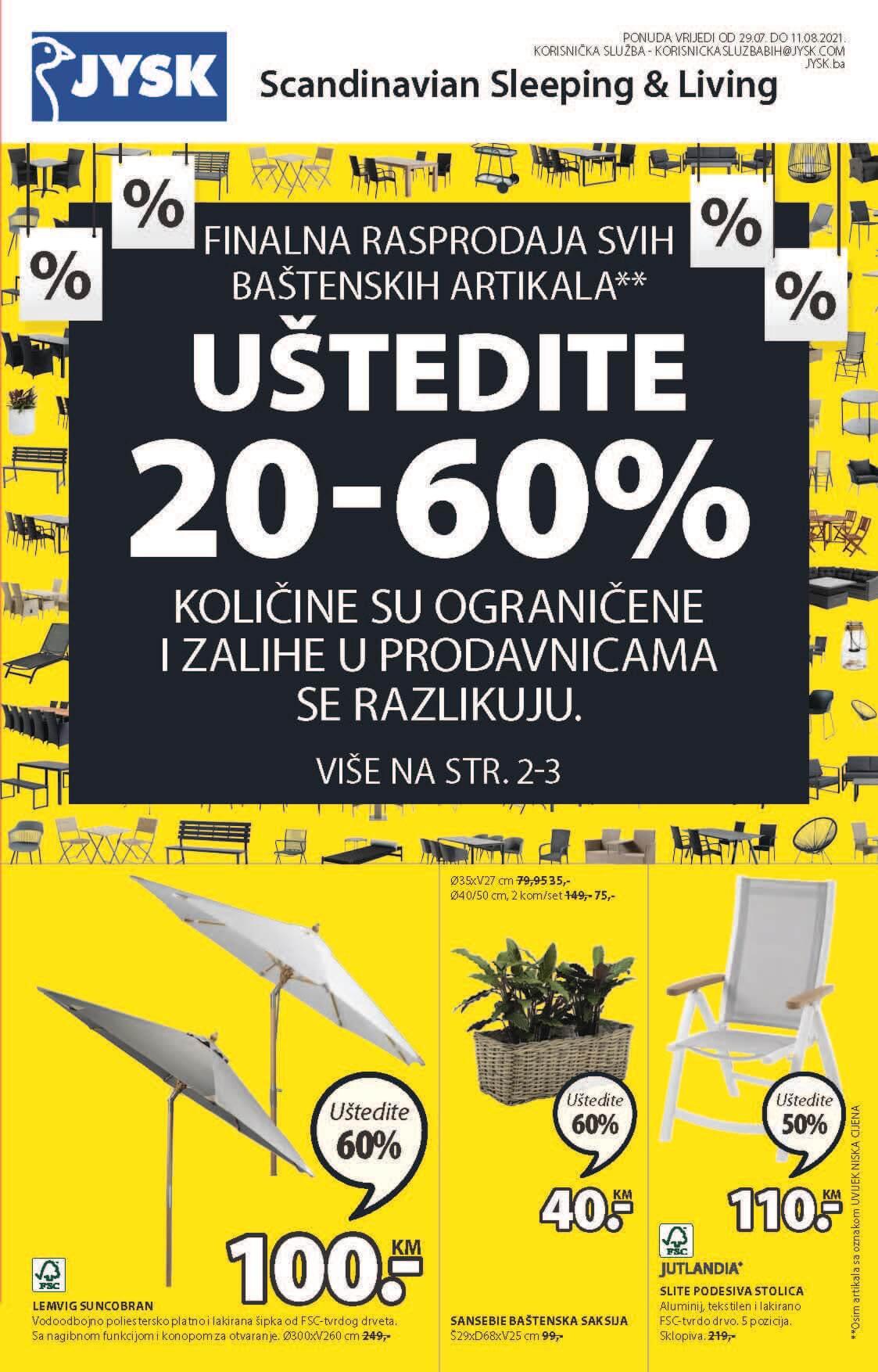 JYSK Katalog Akcijska rasprodaja AVGUST 2021 29.7.2021. 11.8.2021. Page 02