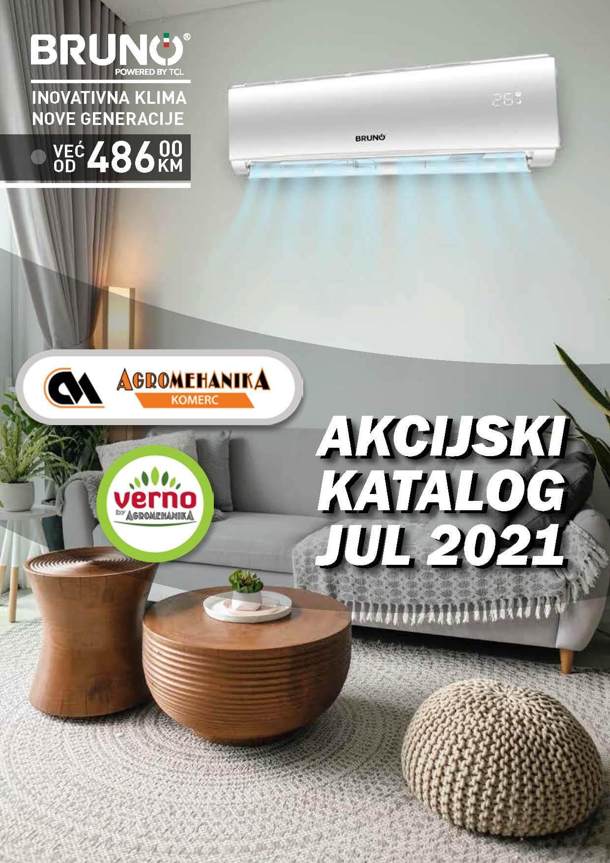VERNO AGROMEHANIKA Akcijski Katalog JUL 2021 1.7.2021. 31.7.2021. Page 01 1