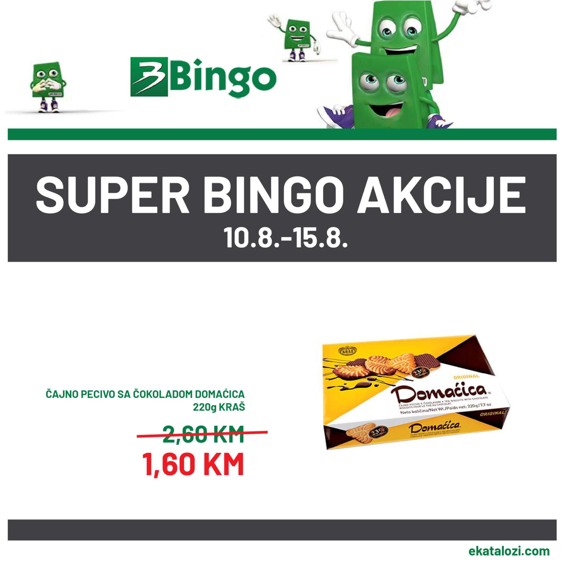 BINGO Akcija niske cijene 10.8.2021. 15.8.2021 1 1