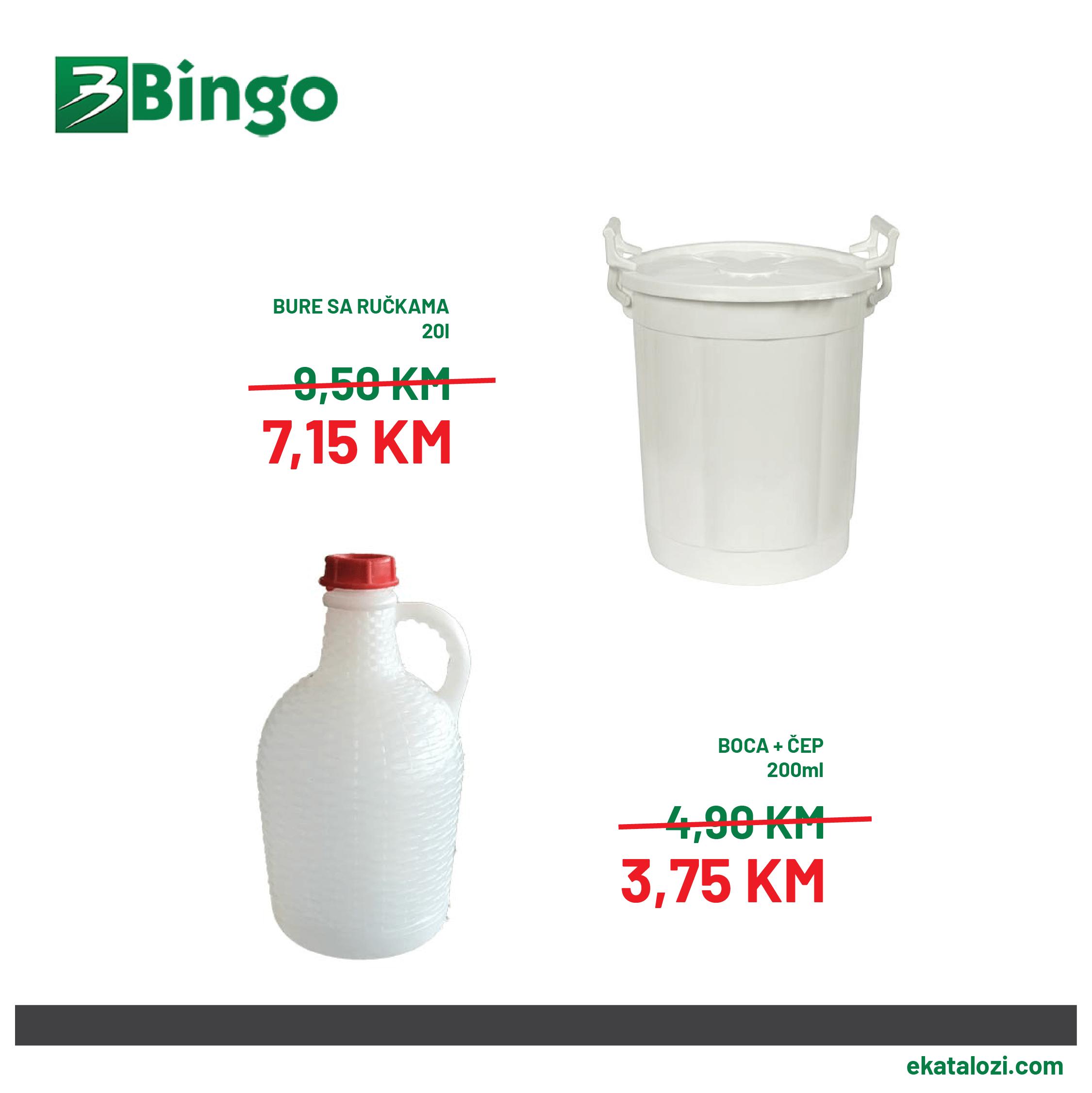 BINGO Super akcija AVGUST 2021 24.8.2021. 26.8.2021 3