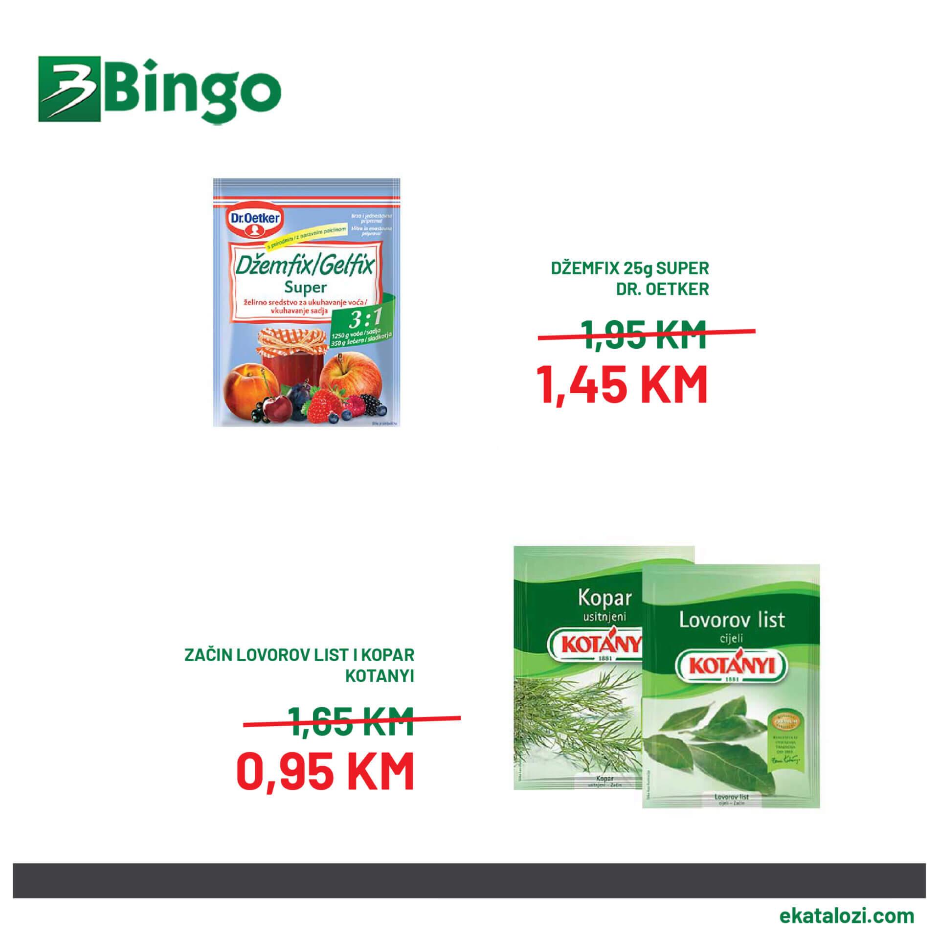 BINGO Super akcija AVGUST 2021 28.8.2021. 30.8.2021 3