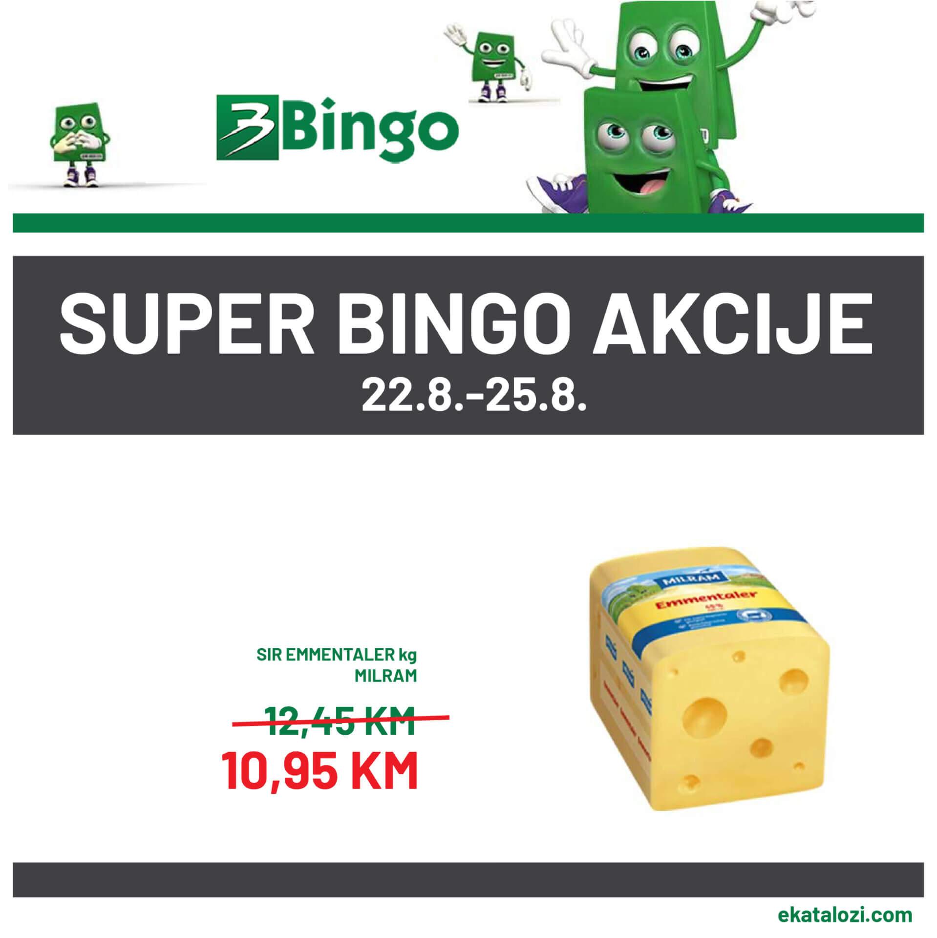 BINGO Super akcija AVGUST 22.8.2021. 25.8.2021 1 1