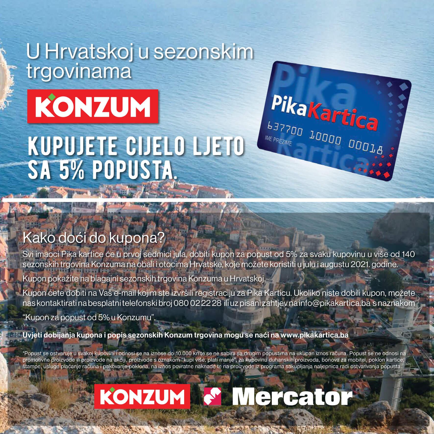 KONZUM PIKA Katalog Ustedi uz PIKA Karticu AVGUST 2021 1.8. 31.8. Page 03