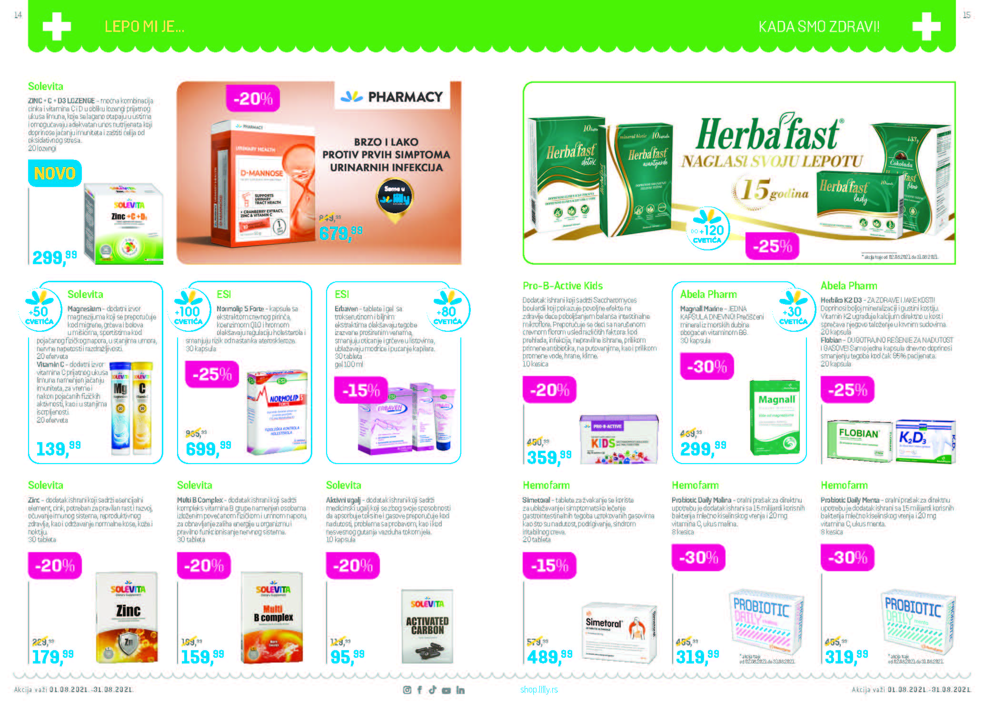 LILLY Katalog LILLY ONLINE AKCIJA AVGUST 2021 1.8. 31.8. Page 08