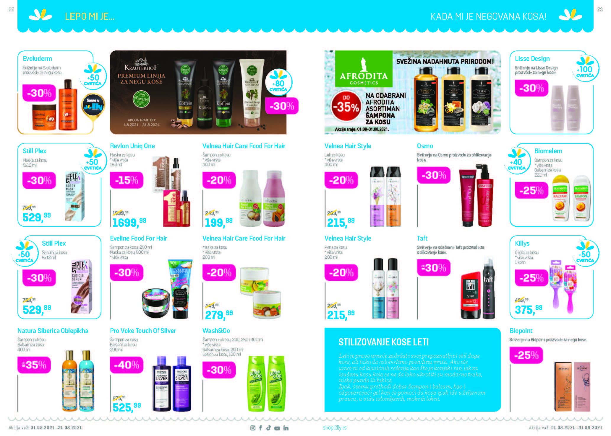 LILLY Katalog LILLY ONLINE AKCIJA AVGUST 2021 1.8. 31.8. Page 12