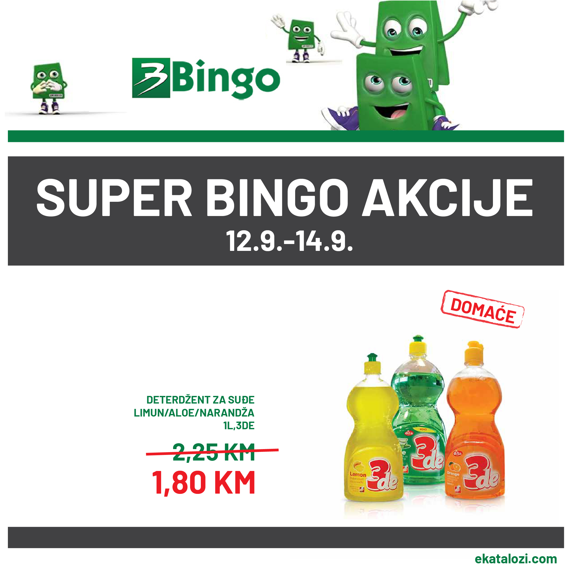BINGO Akcija SEPTEMBAR 2021 12.9.2021. 14.9.2021 1 1