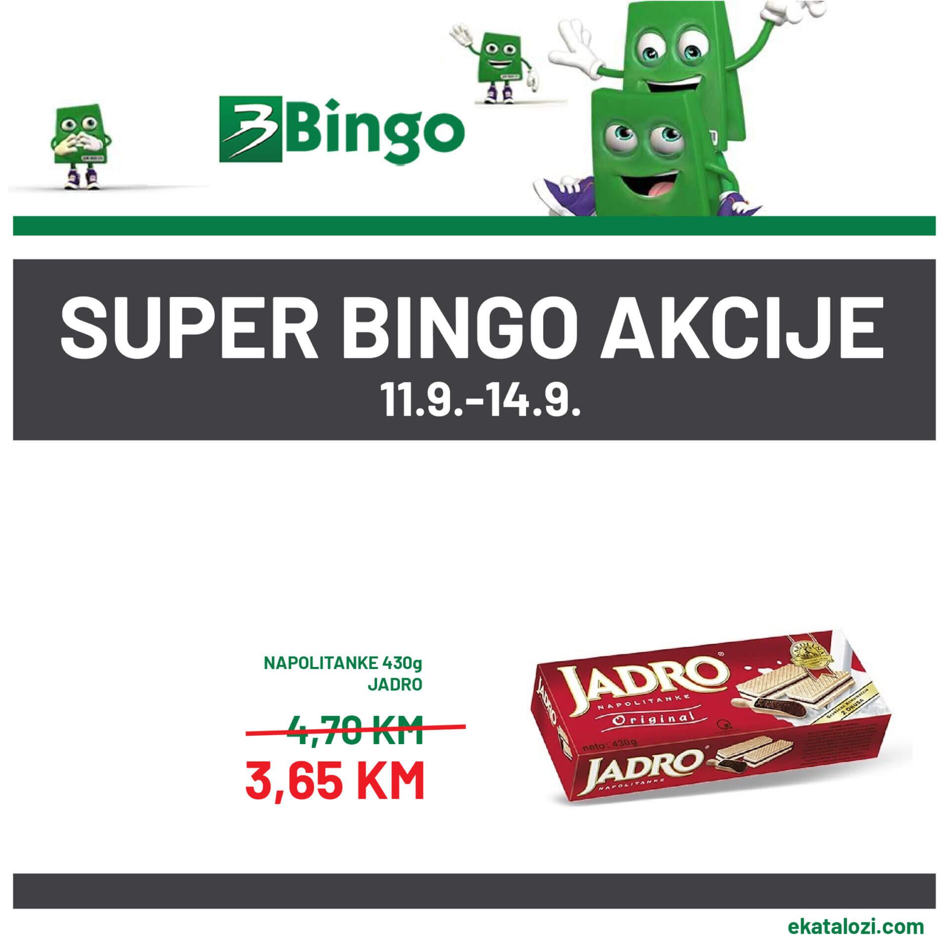 BINGO SUPER akcija SEPTEMBAR 2021 11.9.2021. 14.9 1 1