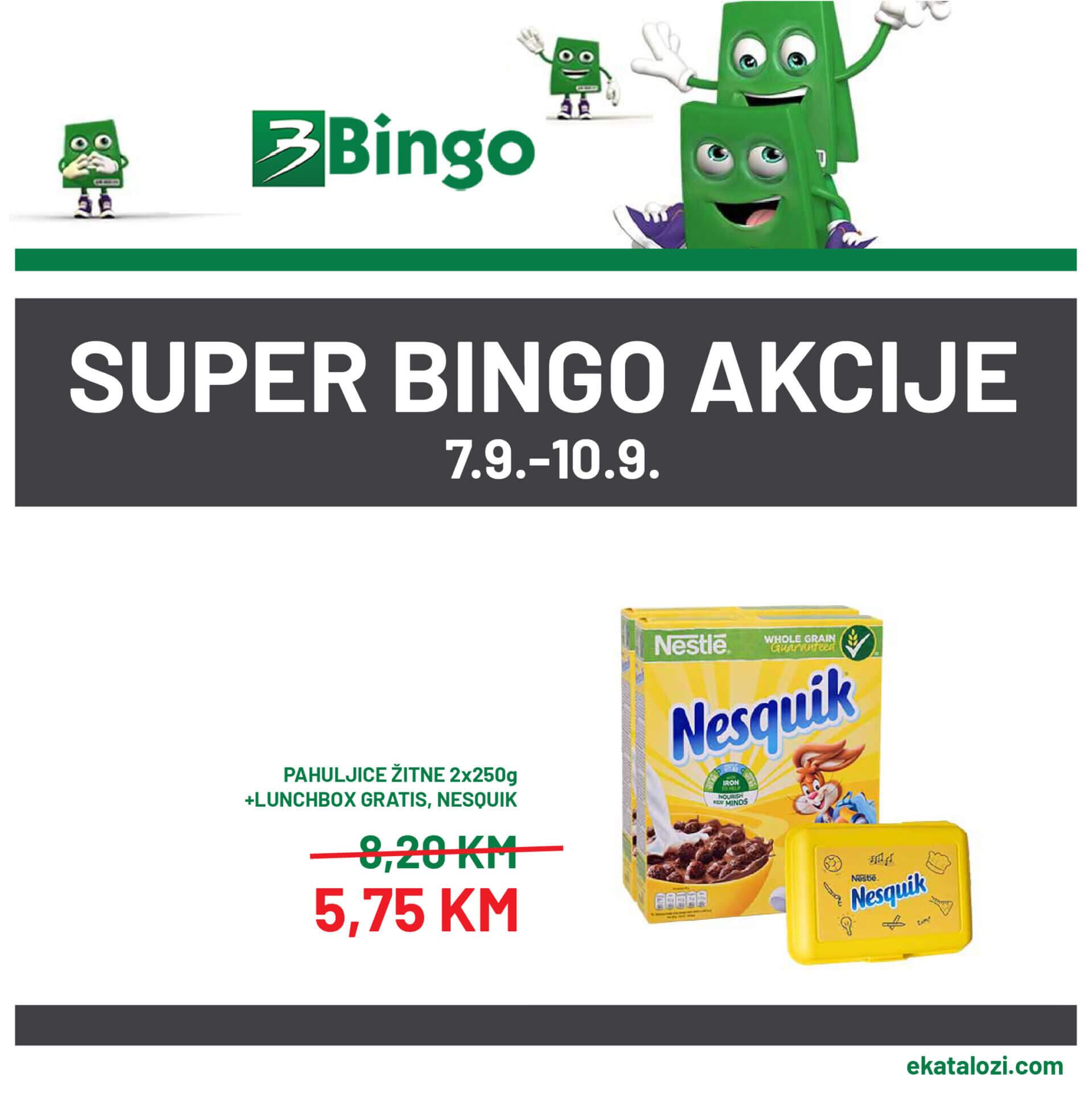 BINGO SUPER akcija SEPTEMBAR 2021 7.9.2021. 10.9 1 1