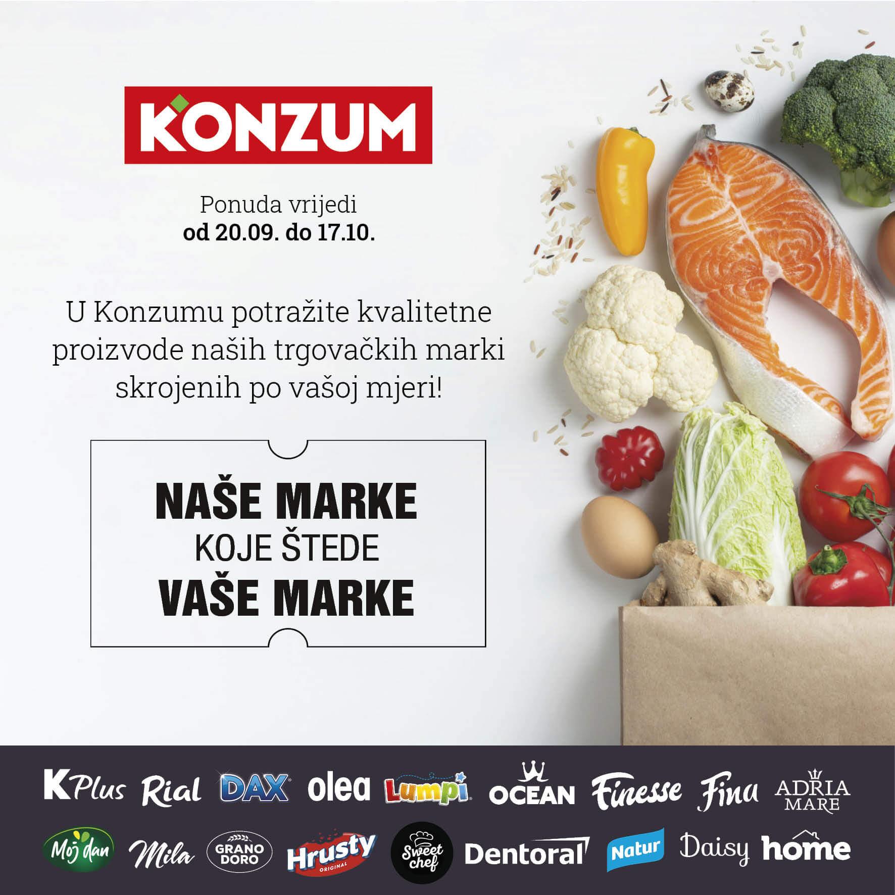 KONZUM Katalog Nase marke koje stede vase marke 22.9.2021. 17.10.2021. Page 01