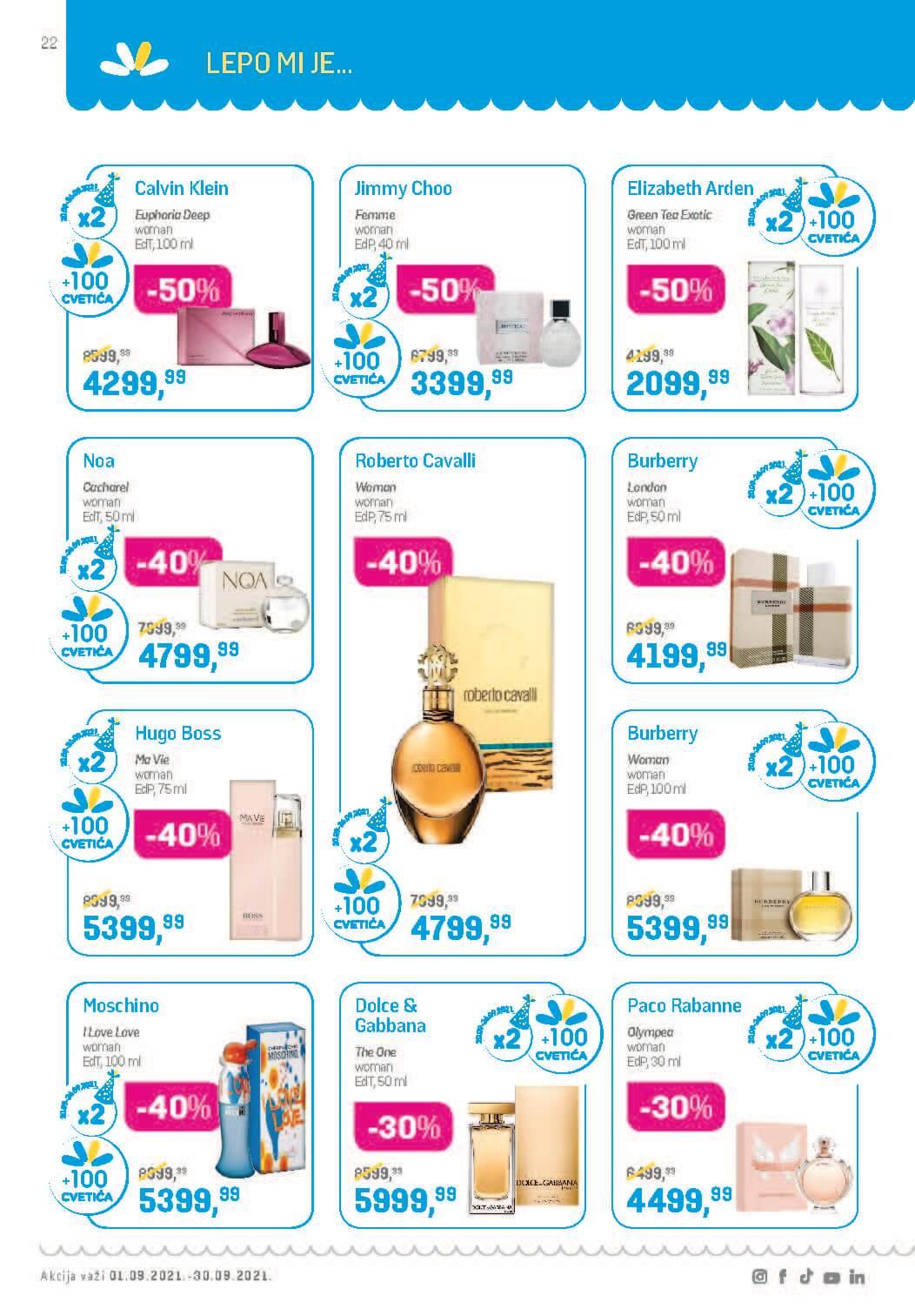 LILLY Katalog LILLY ONLINE Akcija SEPTEMBAR 1.9.2021. 30.9.2021. Page 22